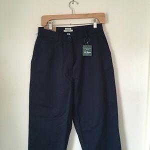 NWT Vintage LL Bean Original Fit Mom Trouser Navy